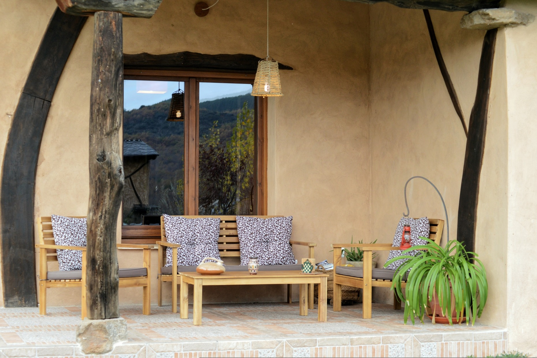 Casa rural El Encanto - El Mayulon - Terraza con ambiente especial