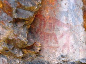 El Mayulon - Ruta de las Pinturas rupestres de Librán - Detalle de pintura rupestre