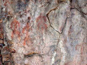 El Mayulon - Ruta de las Pinturas rupestres de Librán - Detalles de pinturas rupestres